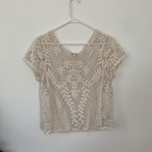 Express Embroidered Top